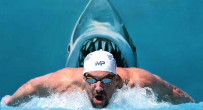 Phelps pierde carrera con un tiburón blanco