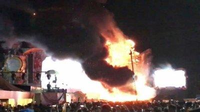 Desalojan a 22.000 personas por un incendio