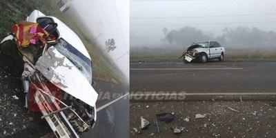 FATAL ACCIDENTE EN CERCANÍAS DE SAN RAMÓN MISIONES LÍMITE CON ITAPÚA.