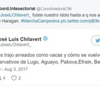 A los campesinos se les cayó un ídolo: Fuerte cruce con Chilavert