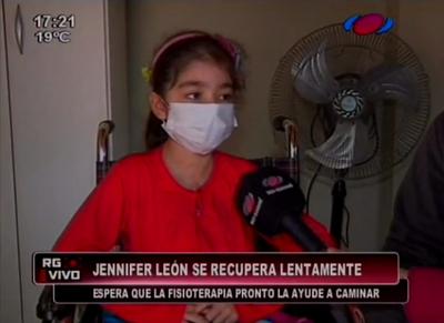 Jennifer León espera volver a caminar con sesiones de fisioterapia