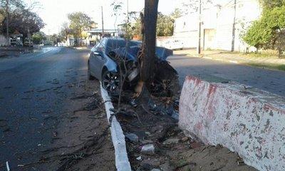 Automovilista choca contra árbol