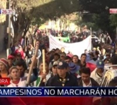 Campesinos no marchan y aguardan que Senado trate el veto este lunes