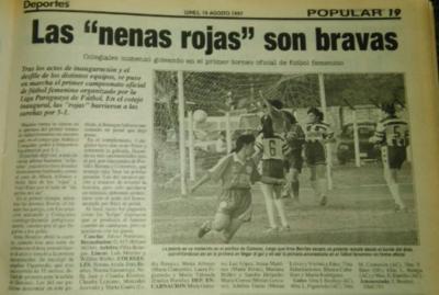 El fútbol femenino, sus 20 años en Paraguay