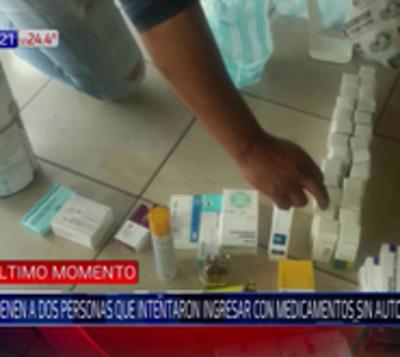 Caen argentinos que intentaron ingresar medicamentos sin autorización