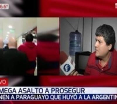 Detienen a paraguayo que estaría implicado en asalto a Prosegur