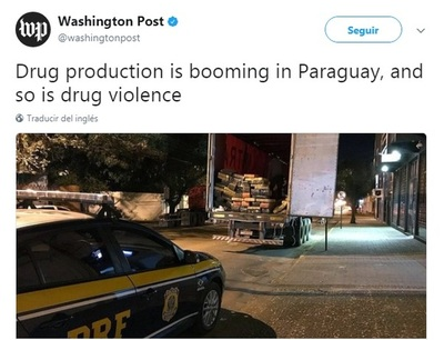 Auge de drogas y violencia en Paraguay