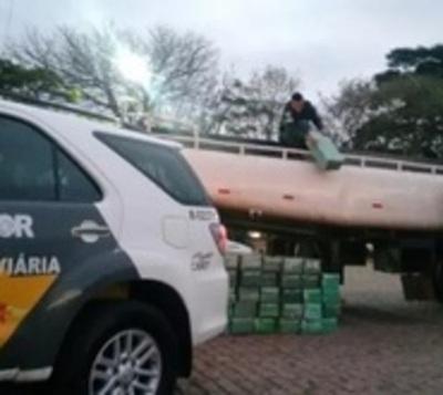 Paraguayo cae con carga récord de droga en Brasil