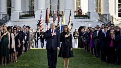 11S: Trump y Melania encabezan momento de silencio
