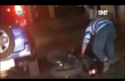 Peligro en Capiatá: conducía moto en estado de ebriedad