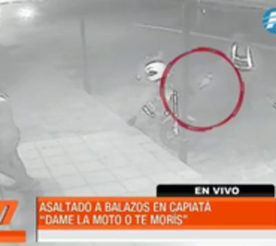 A balazos roban motocicleta a hombre en Capiatá