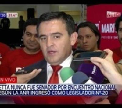 ANR reconoce a Petta como legislador afiliado