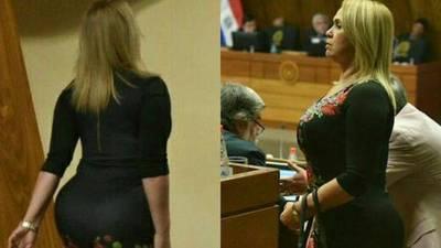 'Más cinturita, más cola': tuneado de senadora sacude a los honorables miembros