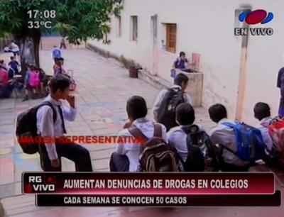 Marihuana, la droga más consumida en colegios