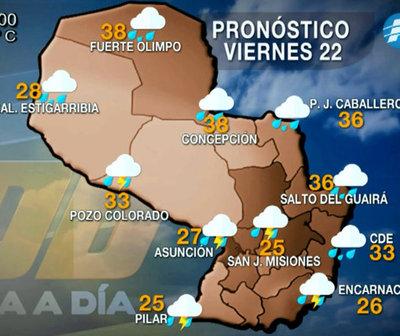 Viernes fresco a cálido con precipitaciones dispersas