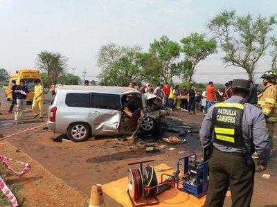 Dos muertos en choque en Campo 9