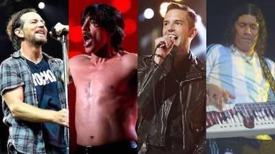 Se confirmaron los artistas del Lolla: Pearl Jam, Red Hot, The Killers y ¿Damas Gratis?