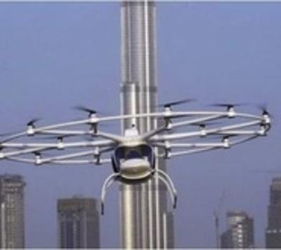 El primer taxi aéreo no tripulado tomó vuelo en Dubai