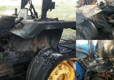 Nueva quema de tractores en Tacuatî