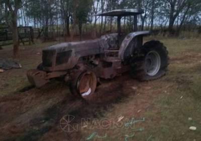 Quema de tractores afecta a productores agrícolas