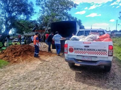 SEN inició asistencia a familias damnificadas por el temporal