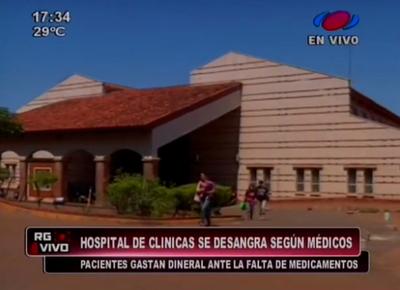 Hospital de Clínicas se desangra, según médicos