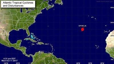 Ofelia se convierte en el décimo huracán