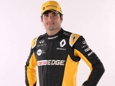 Sainz ya posó con el mono de Renault
