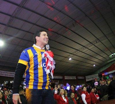 Peña fue presentado en Luque como el futuro presidente del Paraguay