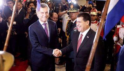 Macri y Cartes firmarán acuerdo sobre Yacyretá el jueves