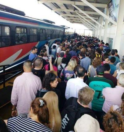 Desmayos en estación del tren Encarnación-Posadas