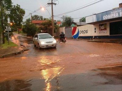 Intensas lluvias en Itapúa y Misiones