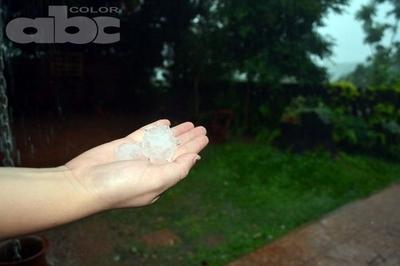 Caída de granizos en San Juan Nepomuceno