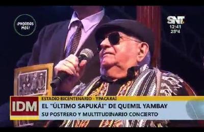 Multitudinario concierto de Quemil Yambay