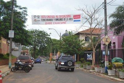 Piden voto castigo contra oficialistas en Caacupé