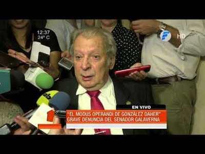 González Daher maneja una red de chantaje, según Galaverna
