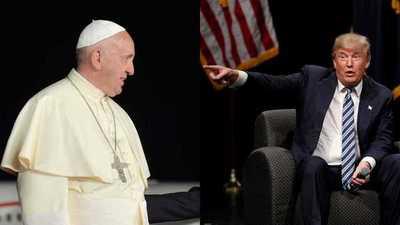 El papa recibe a Trump el 24 de mayo