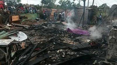 Padre e hijo murieron en un incendio en Ciudad del Este