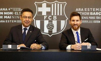 Messi, hasta el 2021 y 700 millones de cláusula