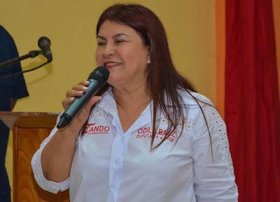 Odila prepara cierre de campaña electoral