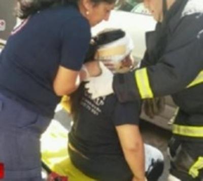 Choque sobre Bruno Guggiari deja una joven herida