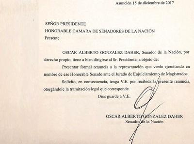 González Daher se aleja del JEM presentando renuncia