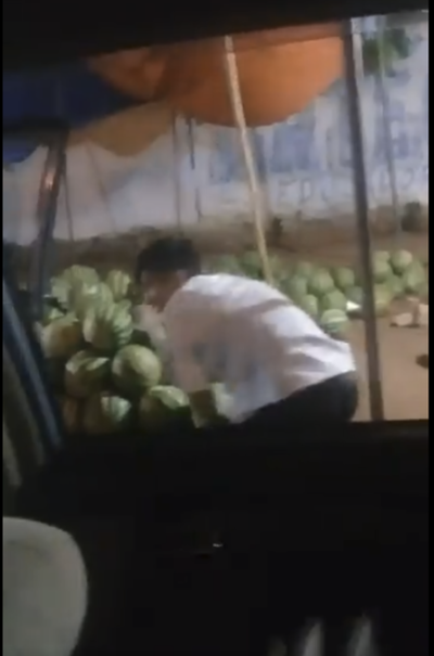 VIDEO: Jóvenes robaron sandías a humildes vendedores en Itá