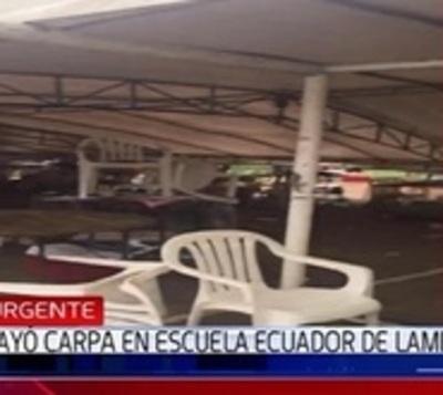 Suspenden votación en colegio de Lambaré por desplome de toldo