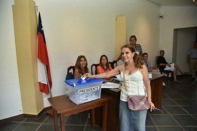 50% de electores chilenos ya votaron en Paraguay