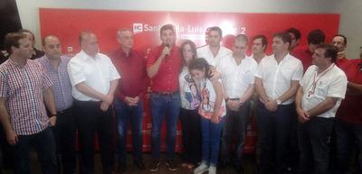 Santi Peña reconoce derrota y promete seguir apoyando a la ANR