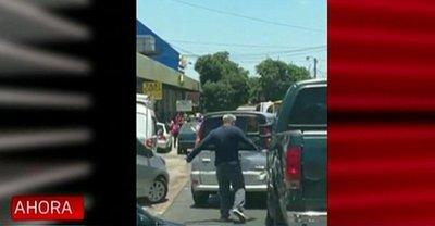 Violenta discusión entre conductores en San Lorenzo
