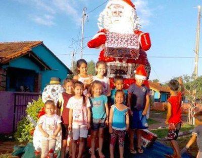 El Papá Noel hecho por niños