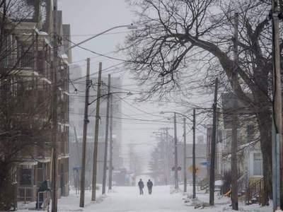 Registran ola de frío extremo en Canadá
