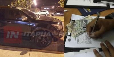 DIO POSITIVO A LA PRUEBA DE ALCOTEST Y OFRECIÓ  500.000 A POLICÍAS DEL GRUPO LINCE.